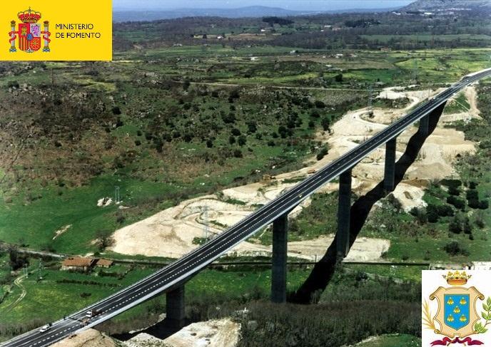 Puente sobre el río Cuerpo de Hombre.Béjar N-630